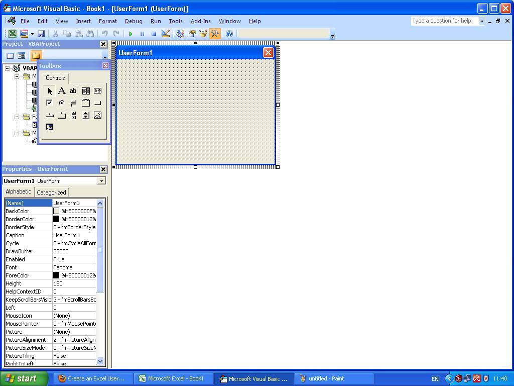 design form dengan Control1024