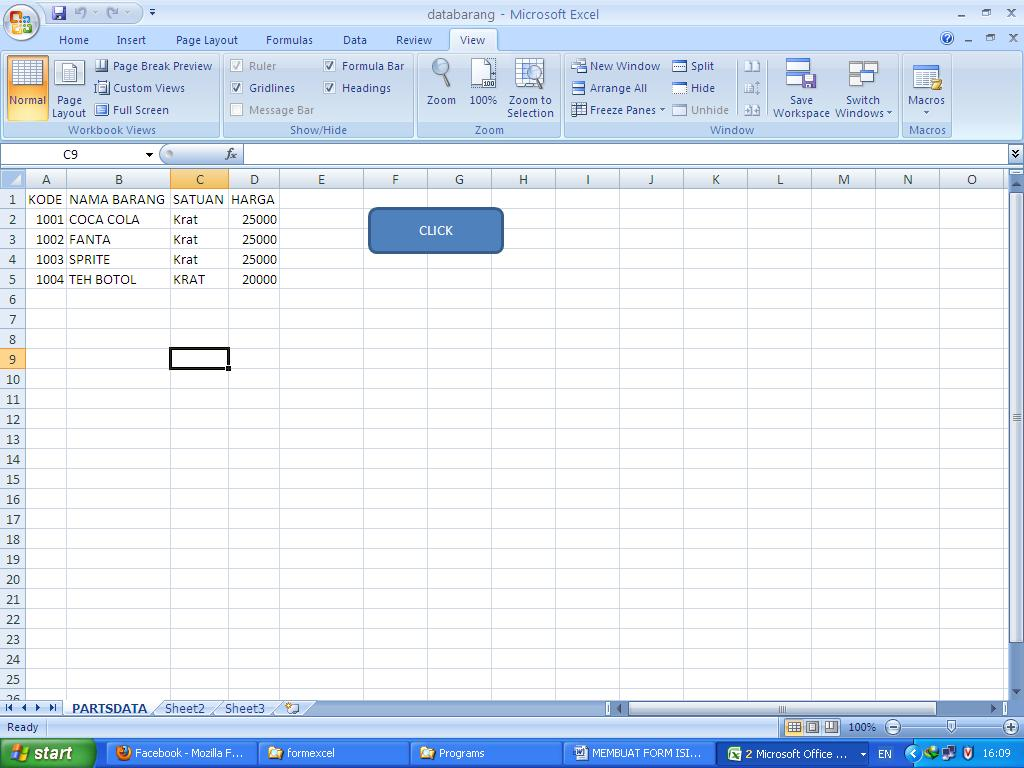 Membuat Form Isian Data Sederhana Di Excel Smandanova S Blog