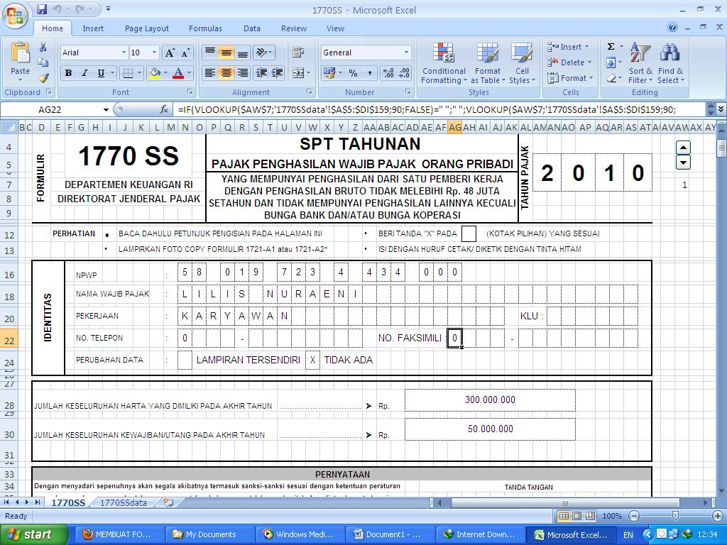 download formulir spt 1770 ss 2011
